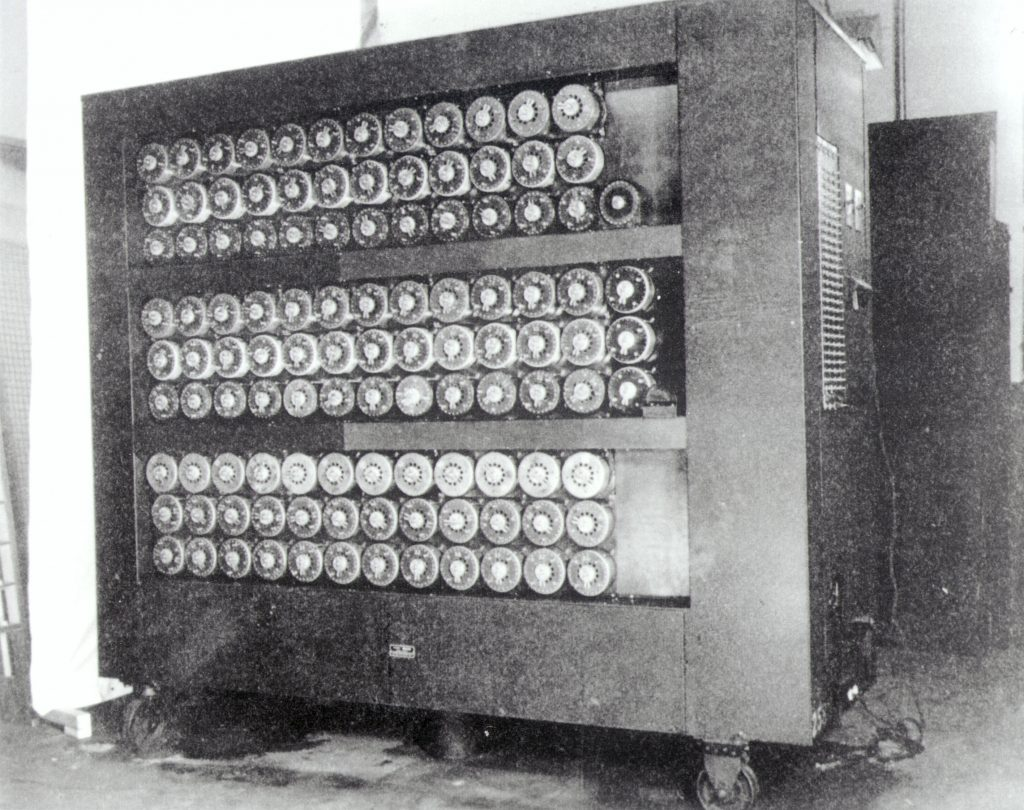 The codebreaking machine developed by the father of AI, Alan Turing.